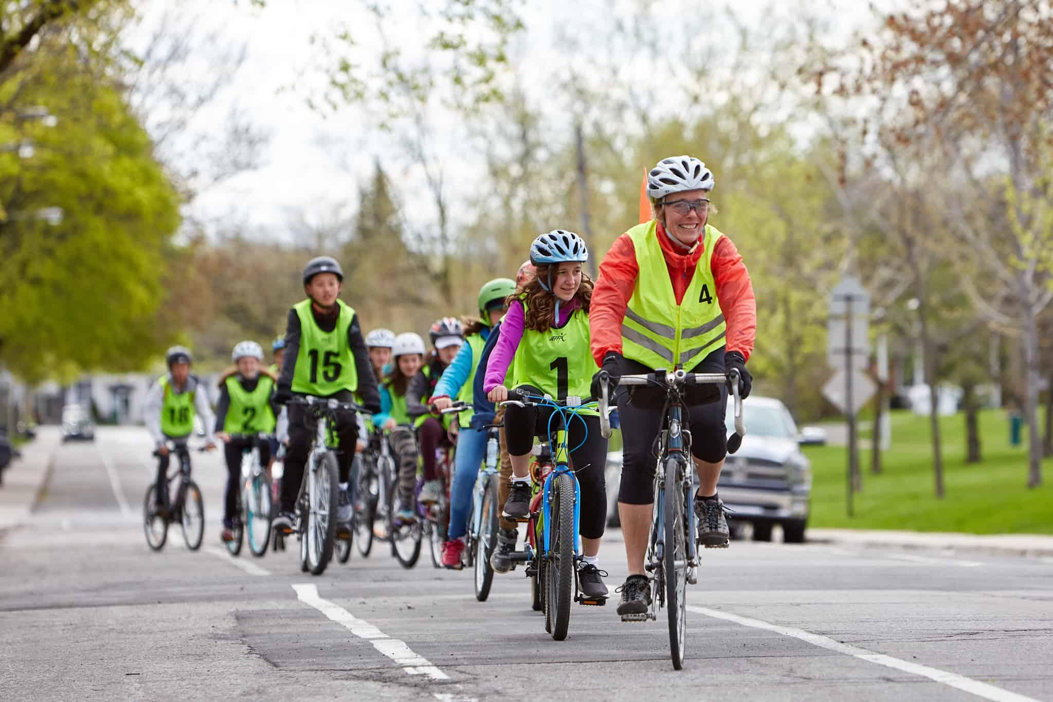Le programme cycliste averti. Photo : Vélo Québec